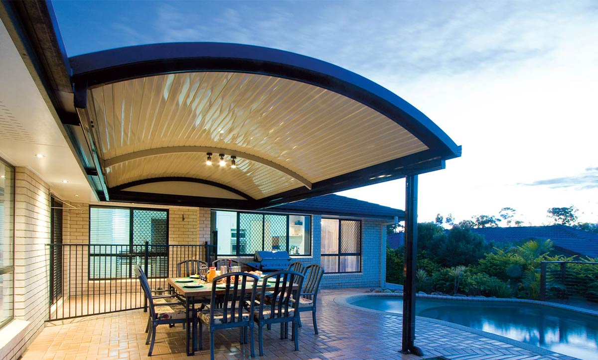 Curved Roof Patio Design