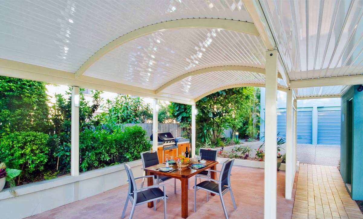 Curved Roofing for outdoor area