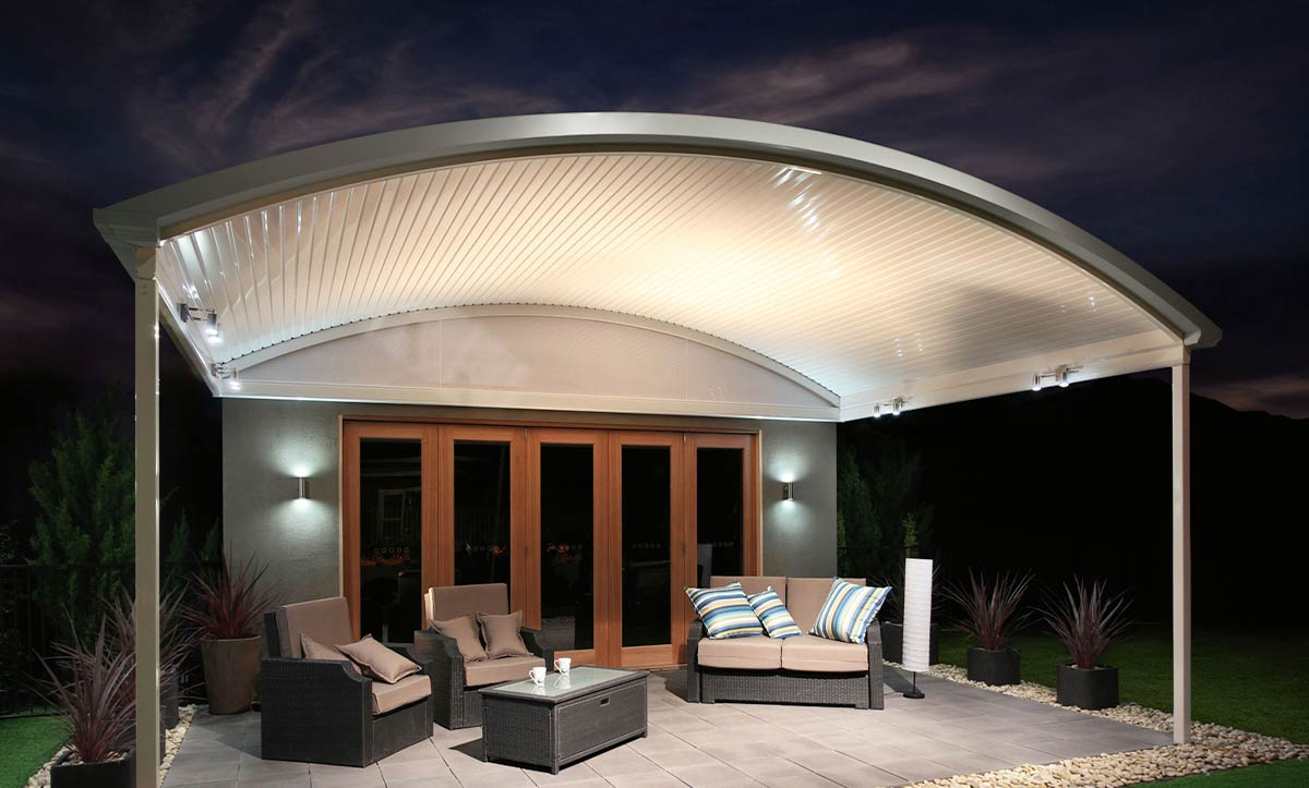 Curved Patio Roof for home